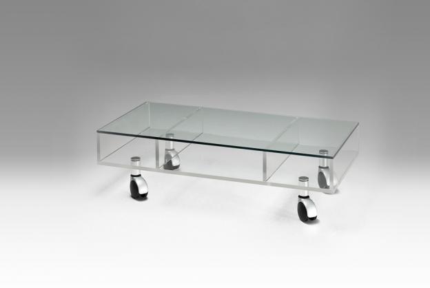Table Basse En Verre à Roulettes Design Mobilier Design