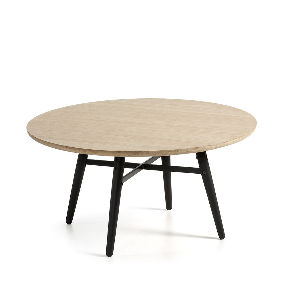 Table basse ronde en chene