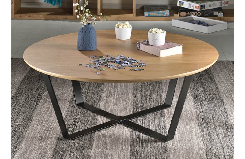 table basse ronde panier mobilier design d coration d. Black Bedroom Furniture Sets. Home Design Ideas