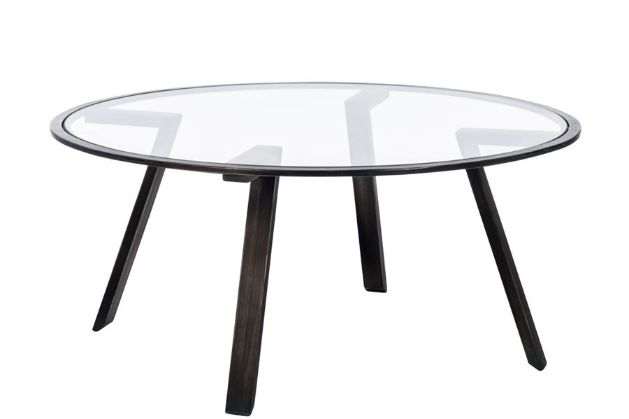 Table basse ronde en fer