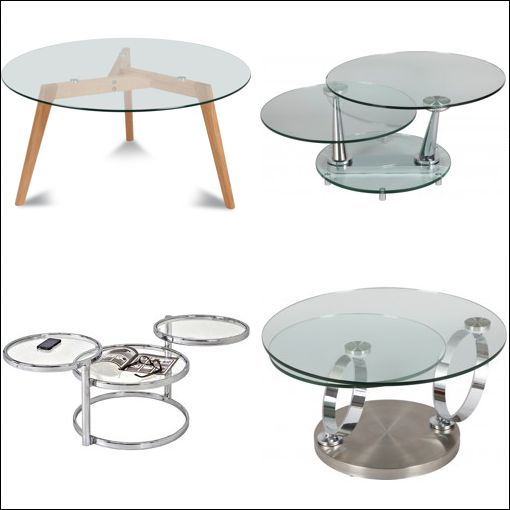 Table basse ronde luxe mobilier design d coration d - Table basse ronde en verre design ...