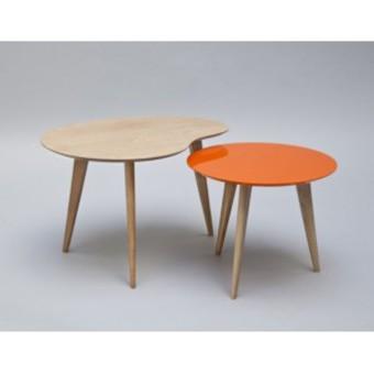 Table basse gigogne orange