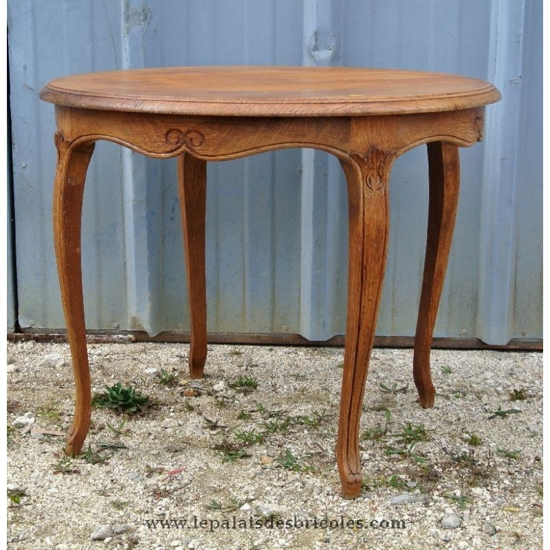 Table basse ronde style ancien