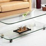 Table basse en verre de salon