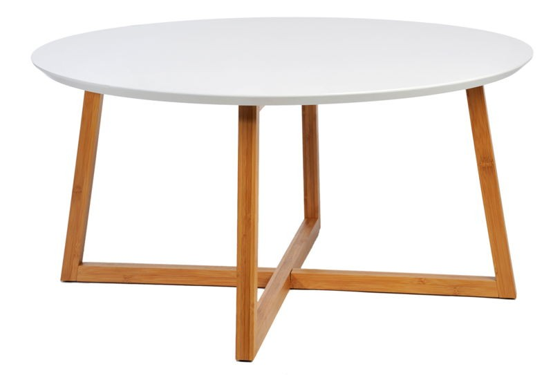 Table basse ronde naturel