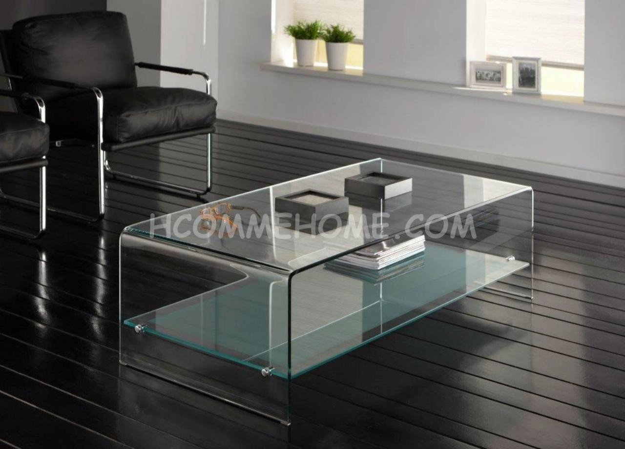 table basse en verre miroir meuble de salon lilas. Black Bedroom Furniture Sets. Home Design Ideas