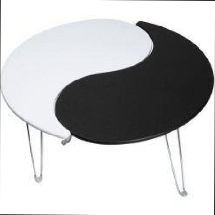 Table basse ying yang bois mobilier design d coration d for Meuble ying yang