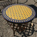 Table basse ronde mosaique