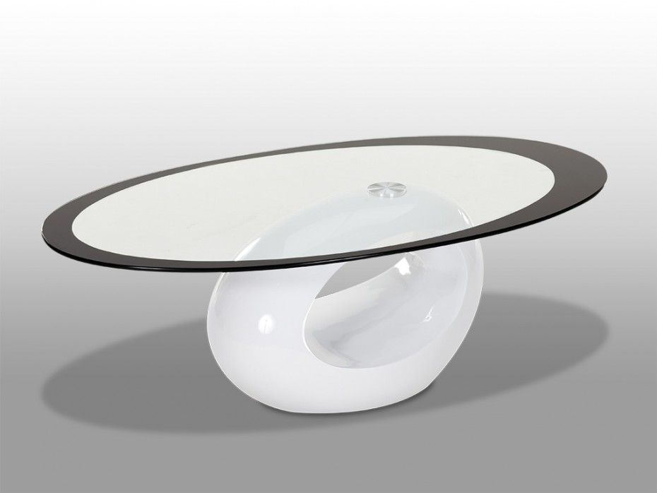 Table basse en verre ovale but mobilier design - Table basse design ovale ...