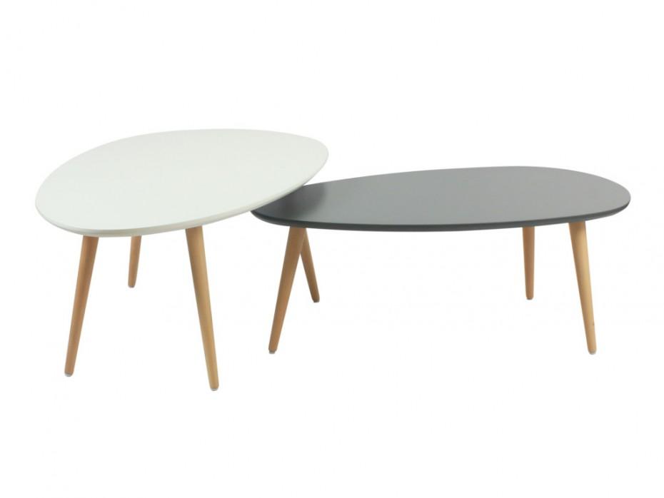 table basse gigogne blanc gris mobilier design d coration d 39 int rieur. Black Bedroom Furniture Sets. Home Design Ideas