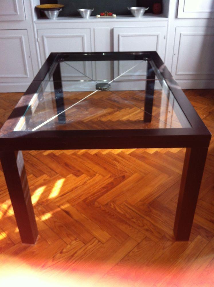 Table basse en verre roche bobois occasion