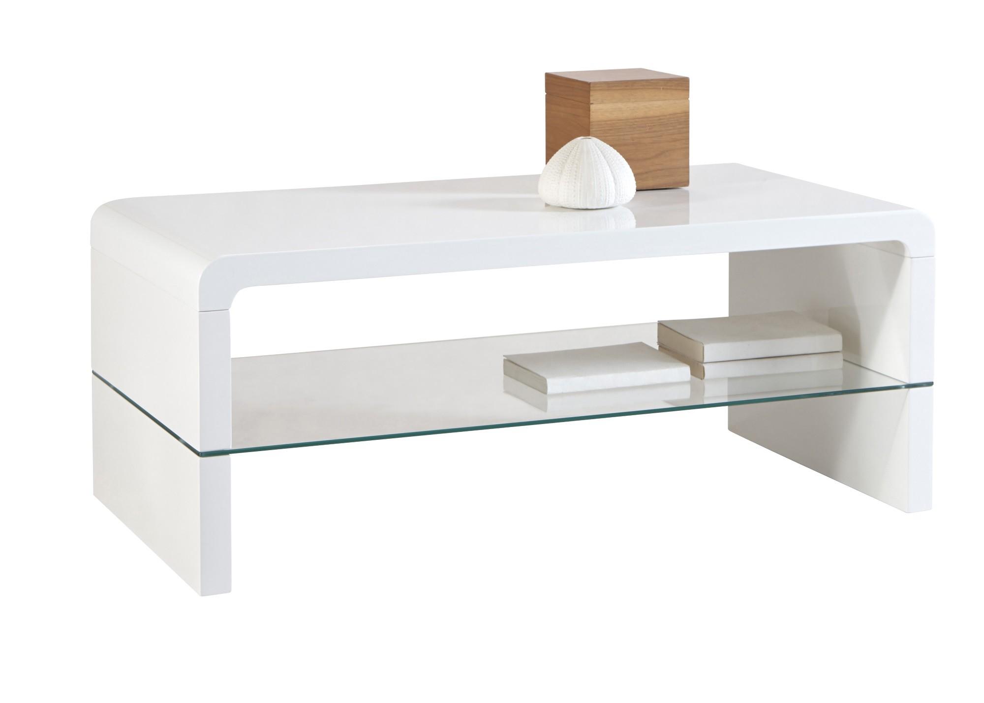 Table basse blanc laque pas cher cheap table basse atlas - Table basse design pas cher blanc ...