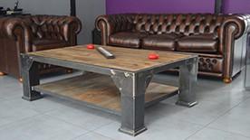 Table basse industrielle fly mobilier design d coration - Table basse industrielle pas chere ...