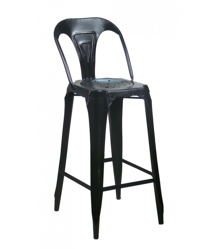 tabouret de bar industriel noir mobilier design d coration d 39 int rieur. Black Bedroom Furniture Sets. Home Design Ideas