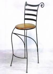 tabouret de bar fer forg mobilier design d coration d 39 int rieur. Black Bedroom Furniture Sets. Home Design Ideas