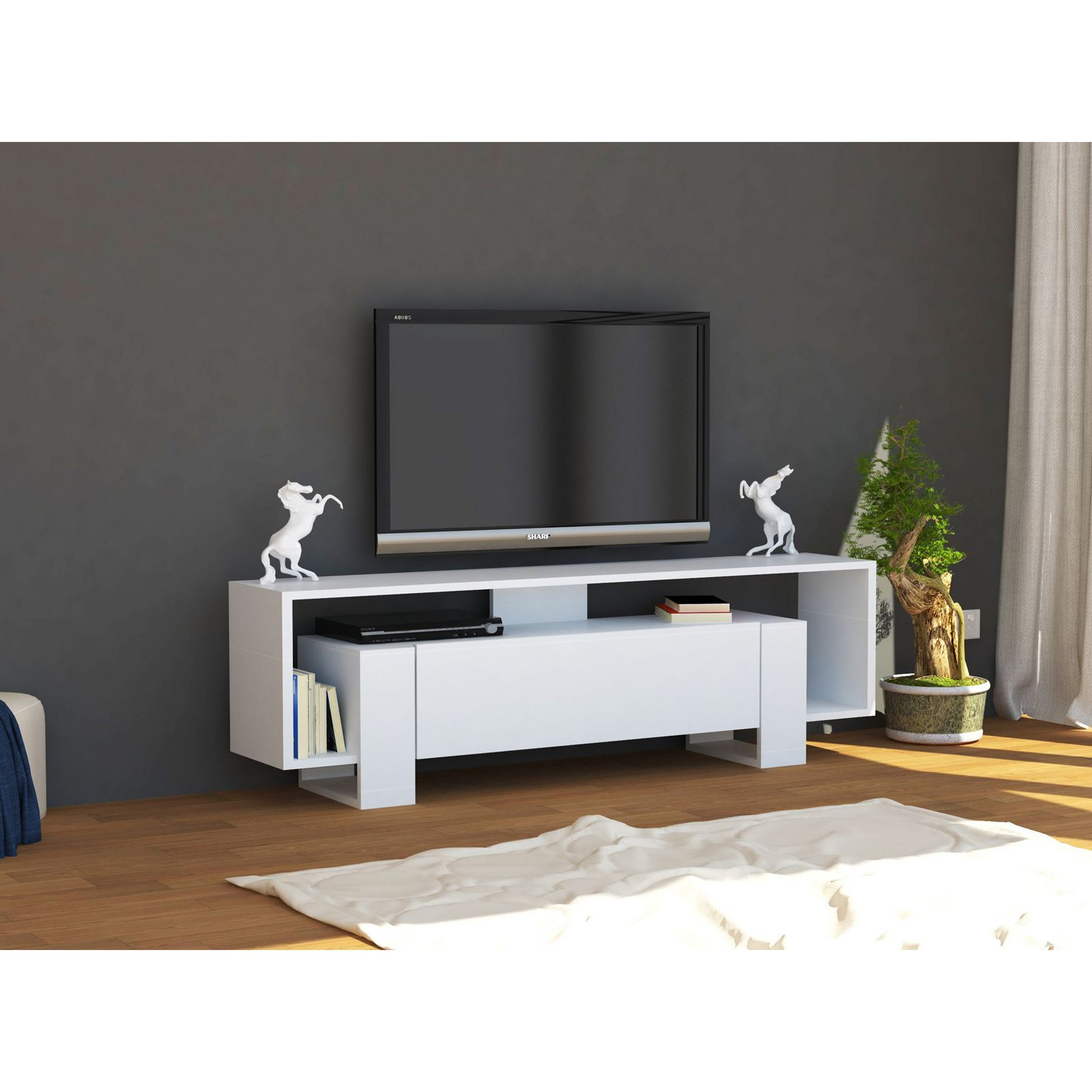 meuble tv wooden art mobilier design d coration d 39 int rieur. Black Bedroom Furniture Sets. Home Design Ideas