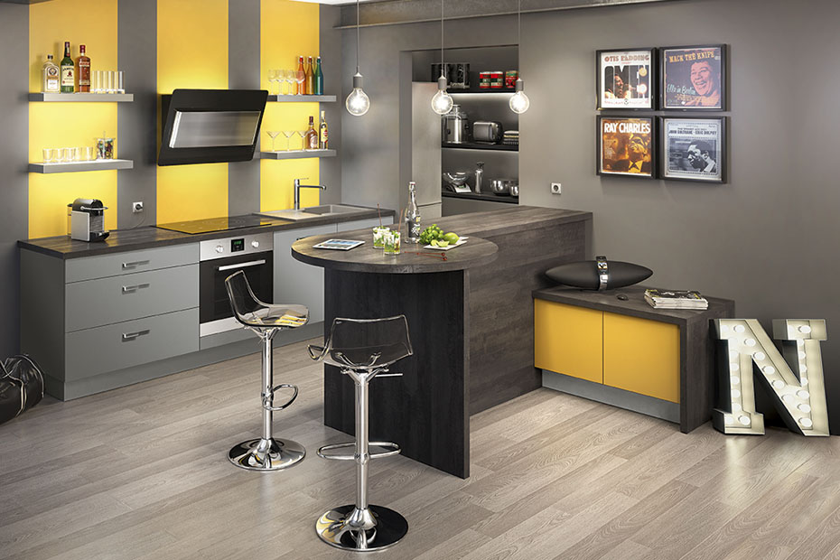 Meuble De Cuisine Jaune Moutarde Mobilier Design