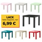 Table basse carrée ikea lack