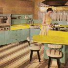 Meuble de cuisine formica vintage