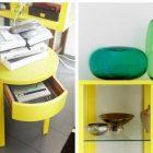 Table basse jaune ikea