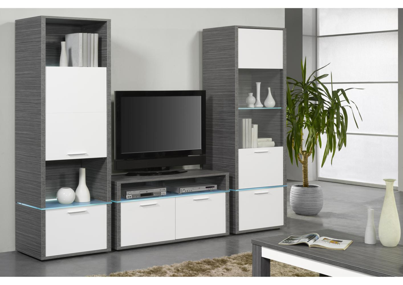 meuble tv avec colonne mobilier design d coration d 39 int rieur. Black Bedroom Furniture Sets. Home Design Ideas