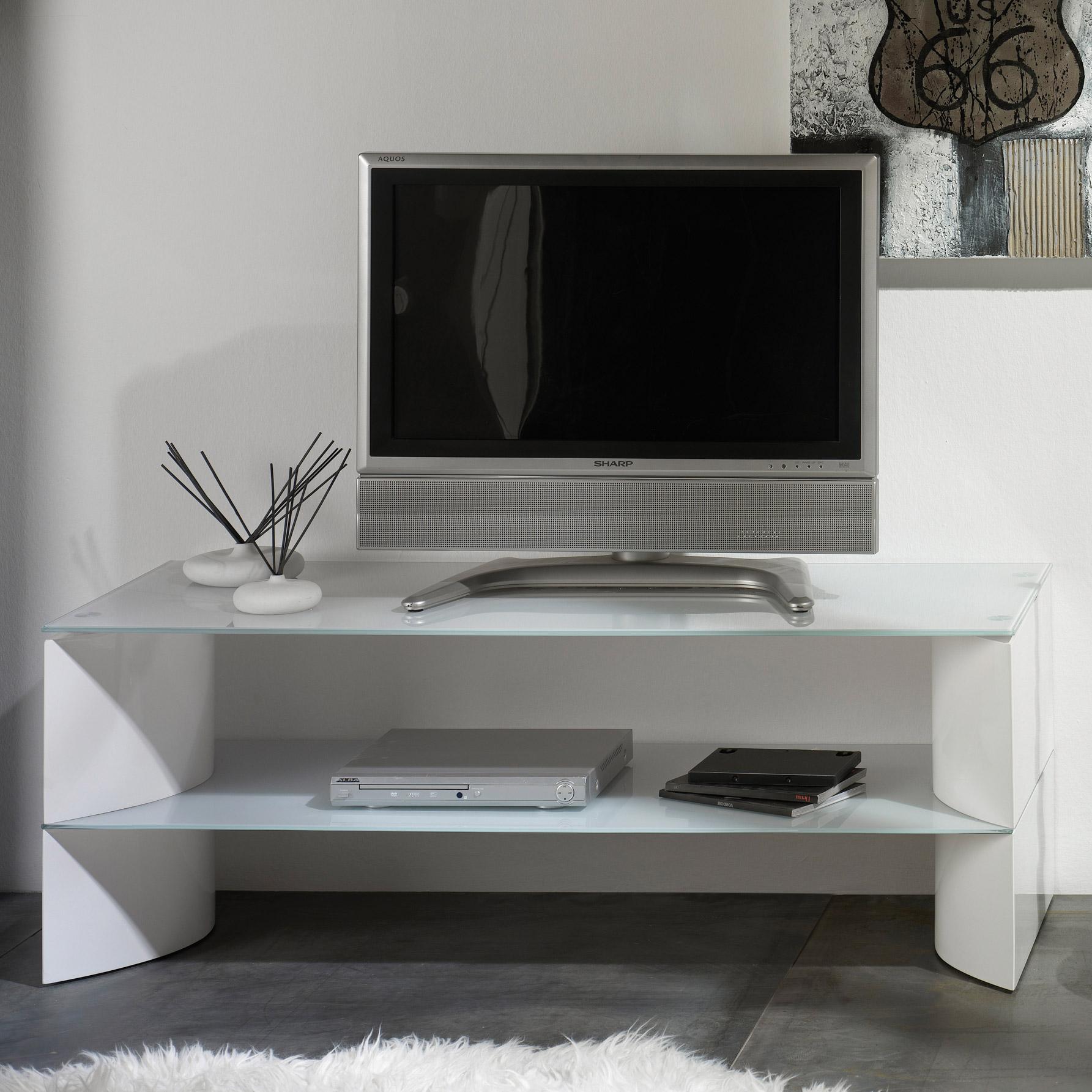 Meuble Tv Blanc Laqu 90 Cm Mobilier Design D Coration D Int Rieur # Meuble Tv Blanc Bois