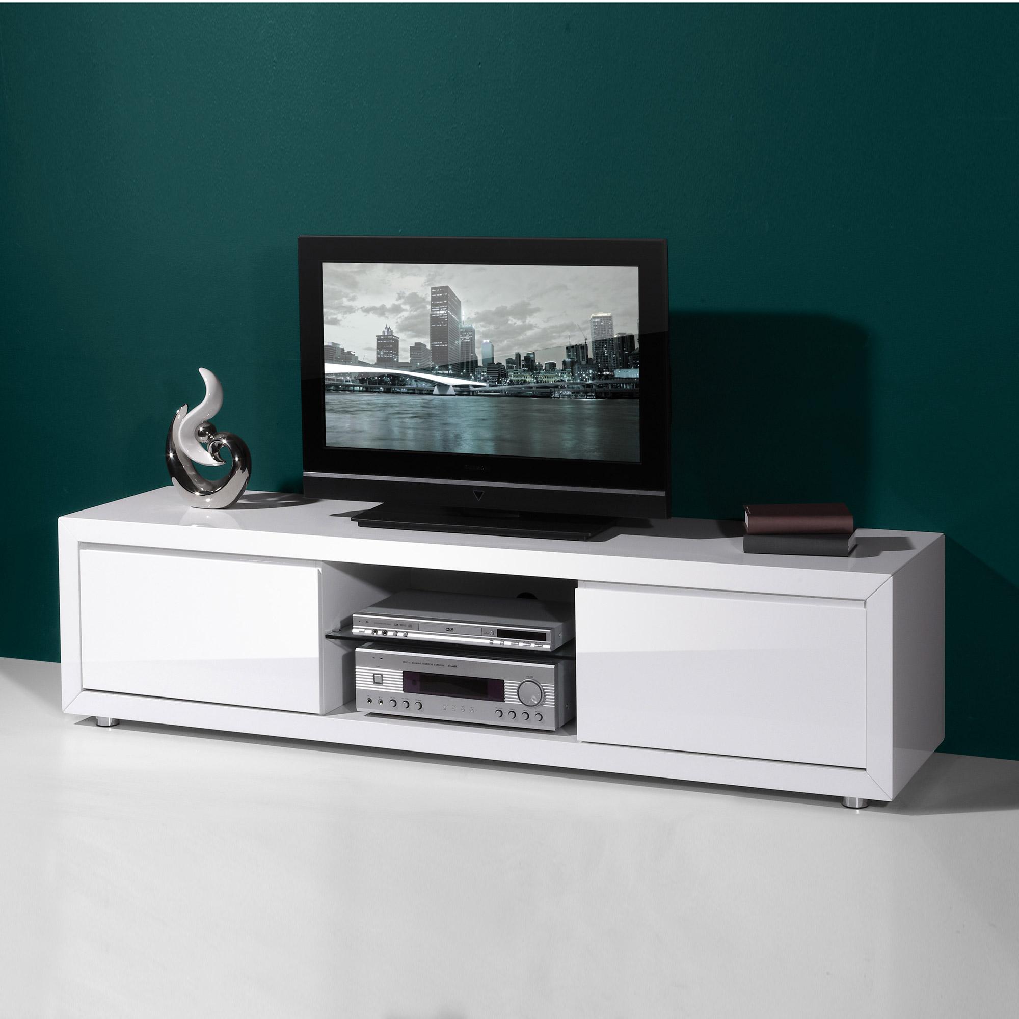 Meuble Haut Tv Mobilier Design D Coration D Int Rieur # Meuble Tv Haut Blanc