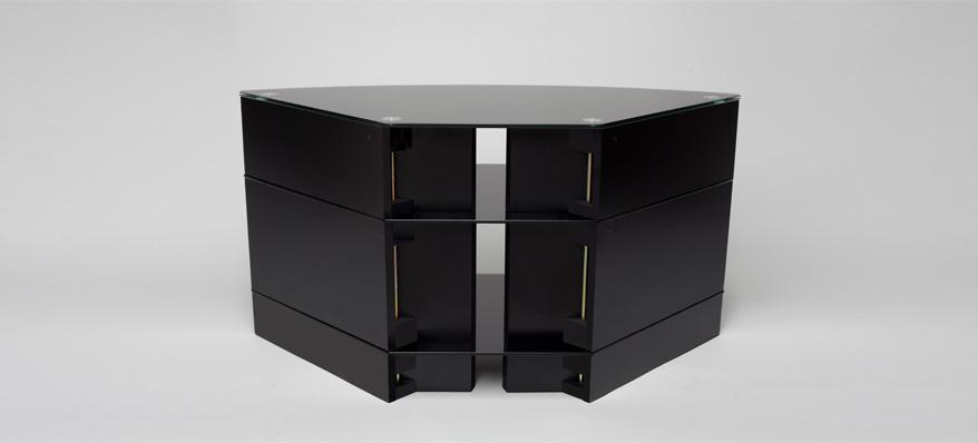 meuble tv angle noir - Meuble Tv D Angle Noir