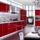 Meuble de cuisine rouge quelle couleur pour les murs