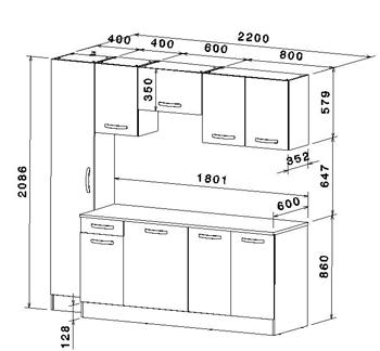dimension meuble de cuisine. Black Bedroom Furniture Sets. Home Design Ideas