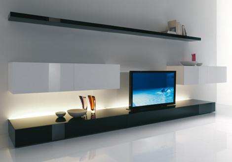 meuble tv bas et long bois - Meuble Tv Bas Et Long Design