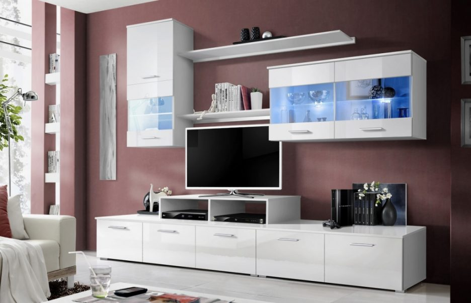 meuble tv urbana blanc - Meuble Tv Bas Et Long Design