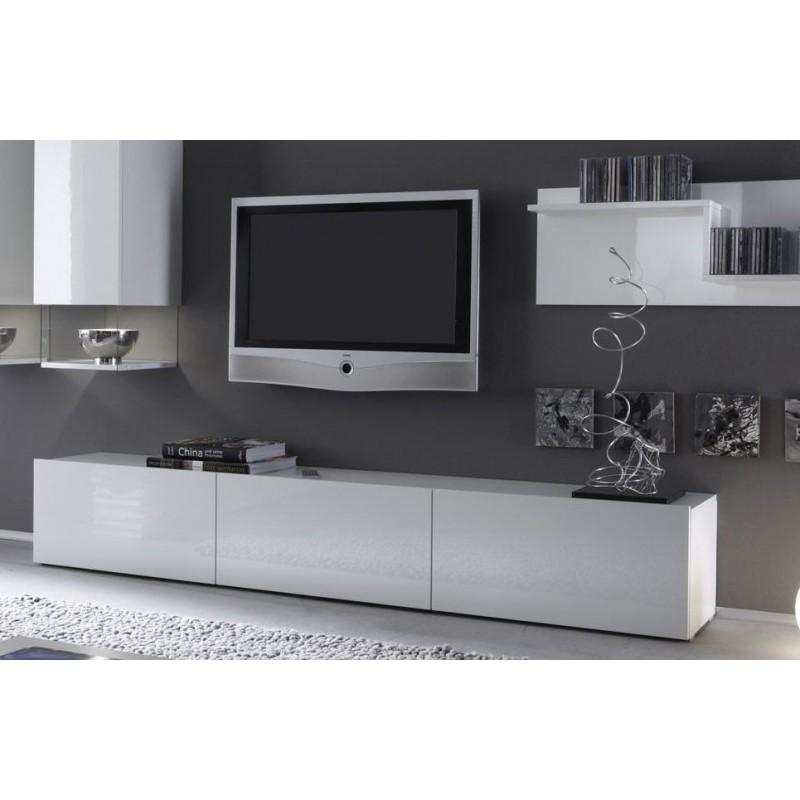 Meuble tv 210 cm mobilier design d coration d 39 int rieur for Banc tv blanc pas cher