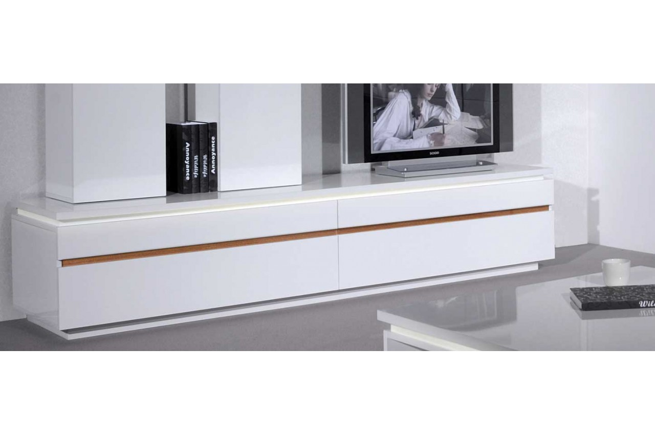 Meuble tv 220 cm mobilier design d coration d 39 int rieur for Meuble tv angle blanc