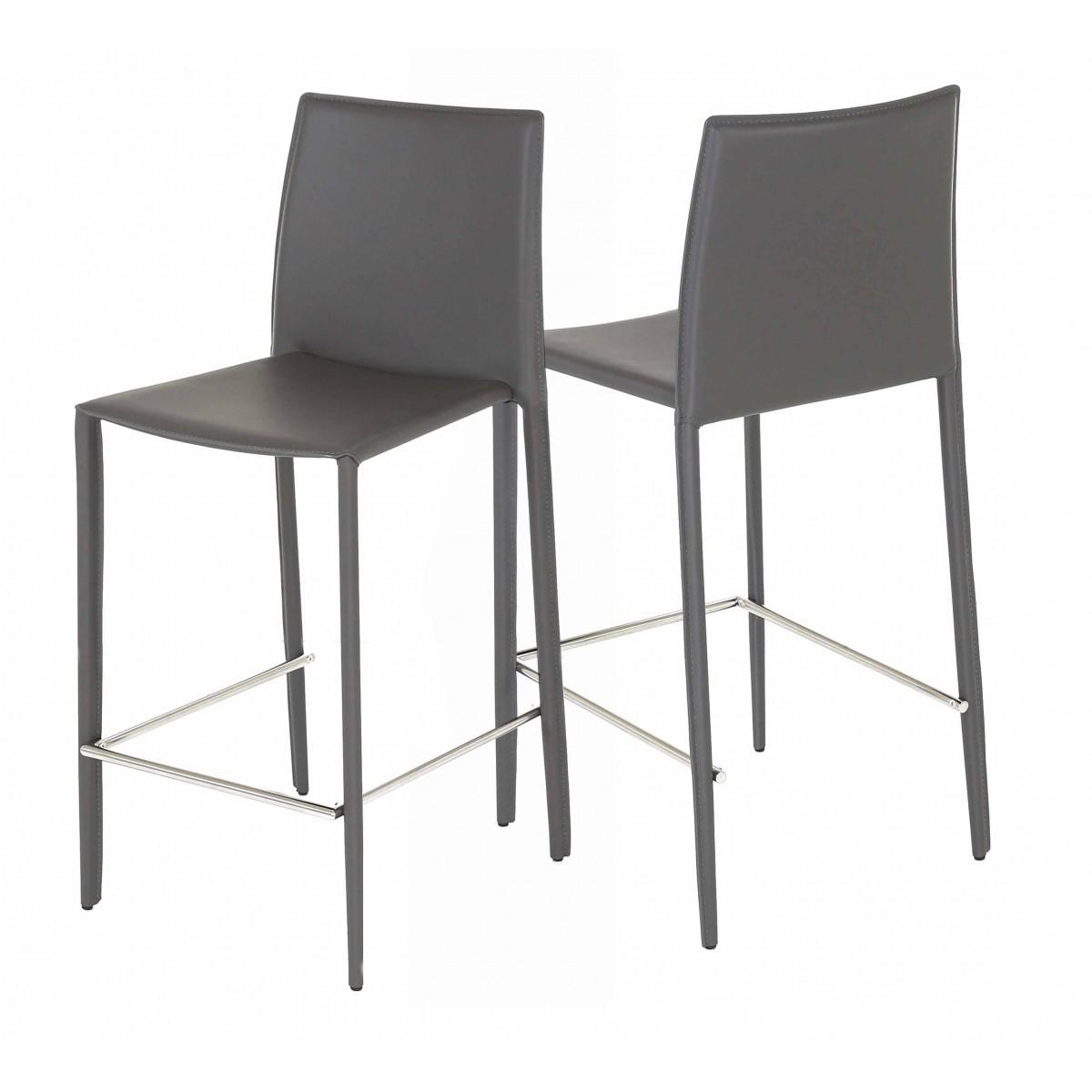 Chaise de bar grise