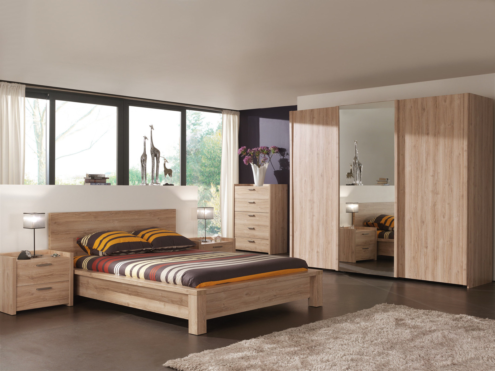 Meuble chambre coucher mobilier design d coration d for Meuble chambre moderne