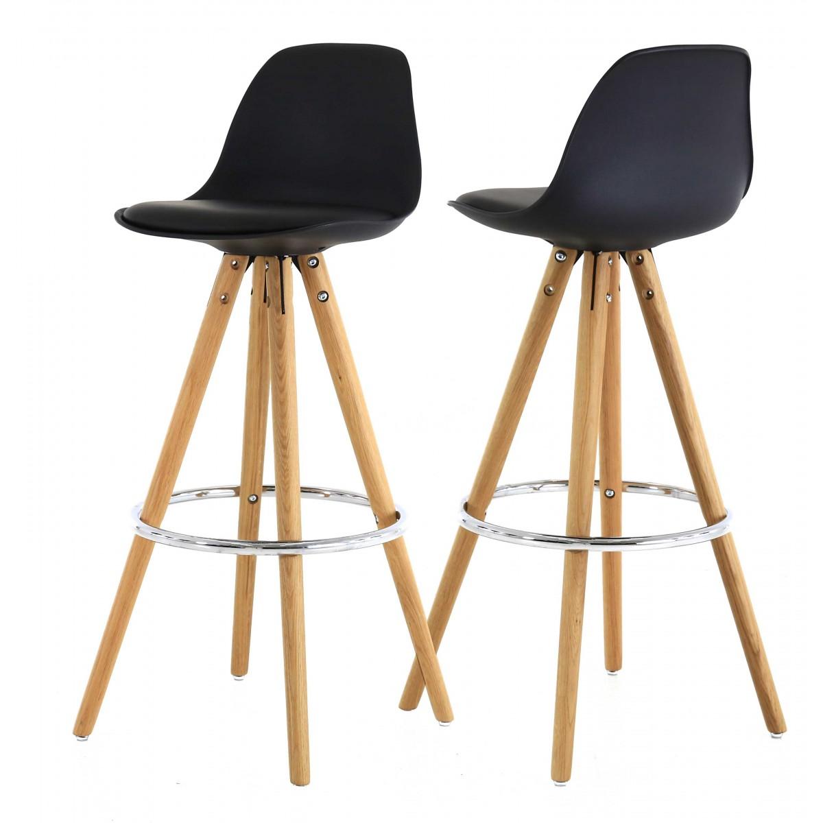 tabouret de bar en bois brut mobilier design d coration d 39 int rieur. Black Bedroom Furniture Sets. Home Design Ideas