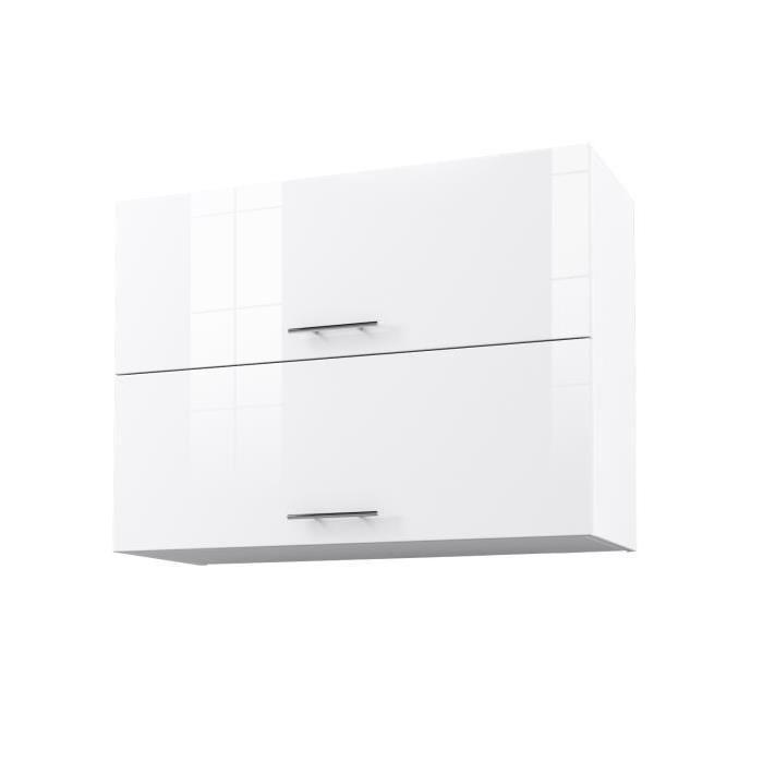 Meuble de cuisine haut blanc mobilier design d coration for Meuble haut cuisine blanc laque