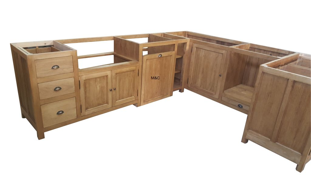 meuble de cuisine en bois brut mobilier design. Black Bedroom Furniture Sets. Home Design Ideas
