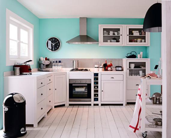 Cuisine meuble blanc mobilier design d coration d 39 int rieur for Cuisine equipee bleu