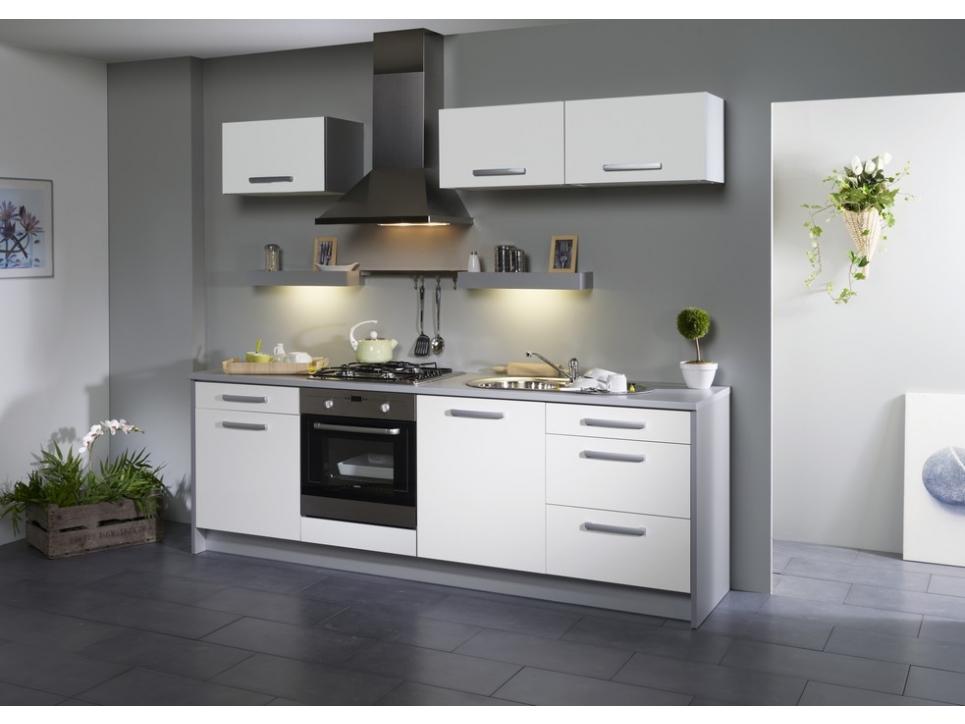 Meuble de cuisine blanc et gris - Mobilier design, décoration d ...