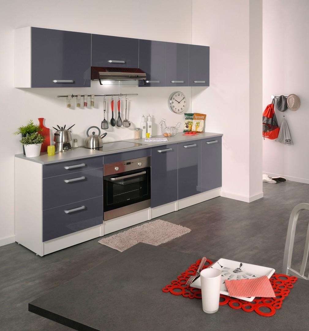 Meuble cuisine gris et blanc mobilier design d coration d 39 int rieur for Mobilier cuisine design