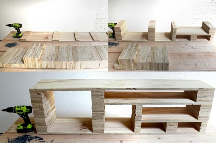 Fabriquer un meuble tv mobilier design d coration d for Meuble contreplaque