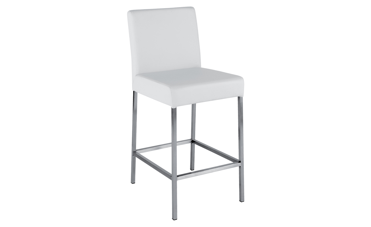 Chaise de bar blanche mobilier design d coration d for Chaise de bar blanche