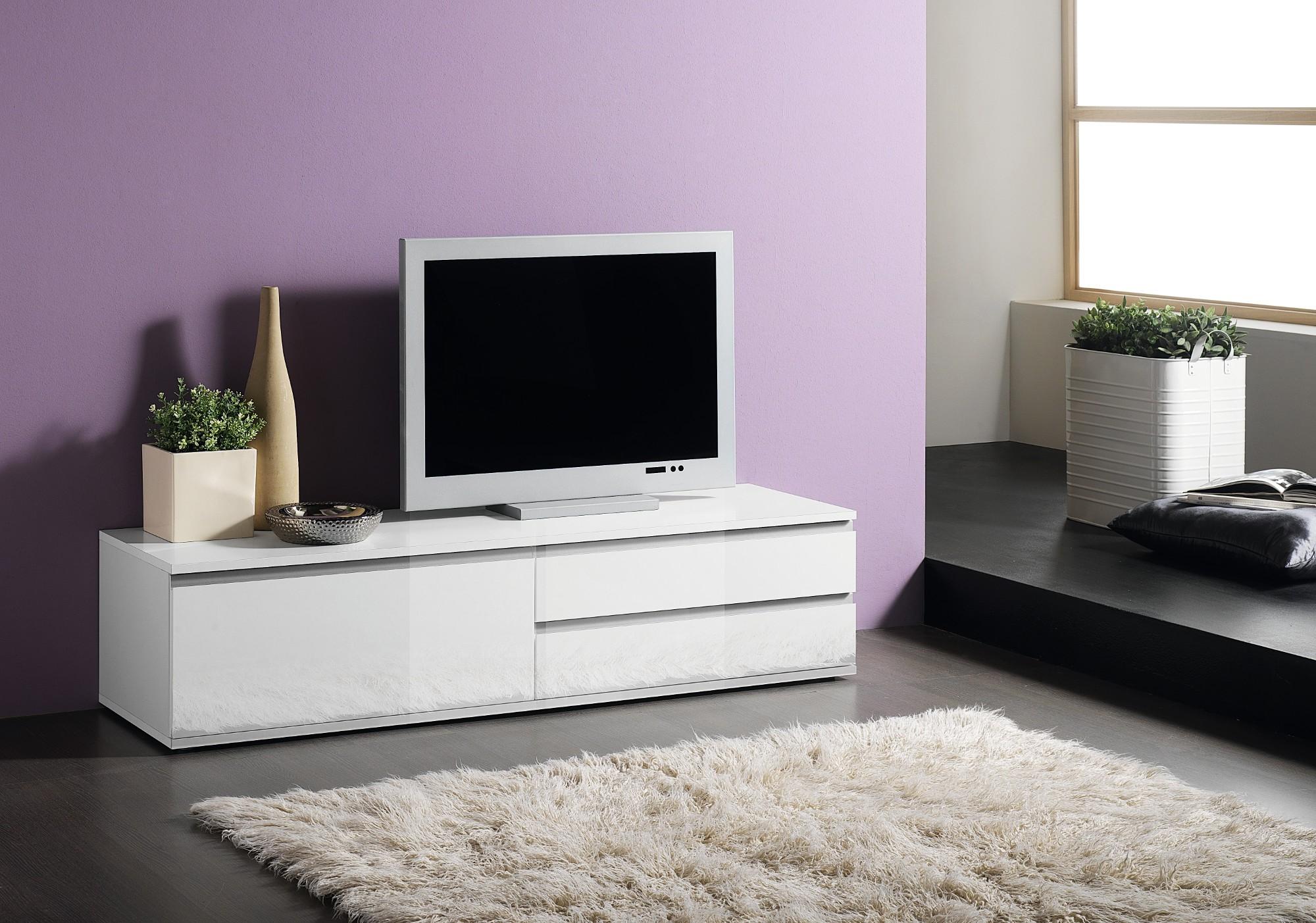 Meuble Tv Auchan Amazing Superbe Frache Meuble Tv Blanc Laque  # Meuble Tv Petit Prix