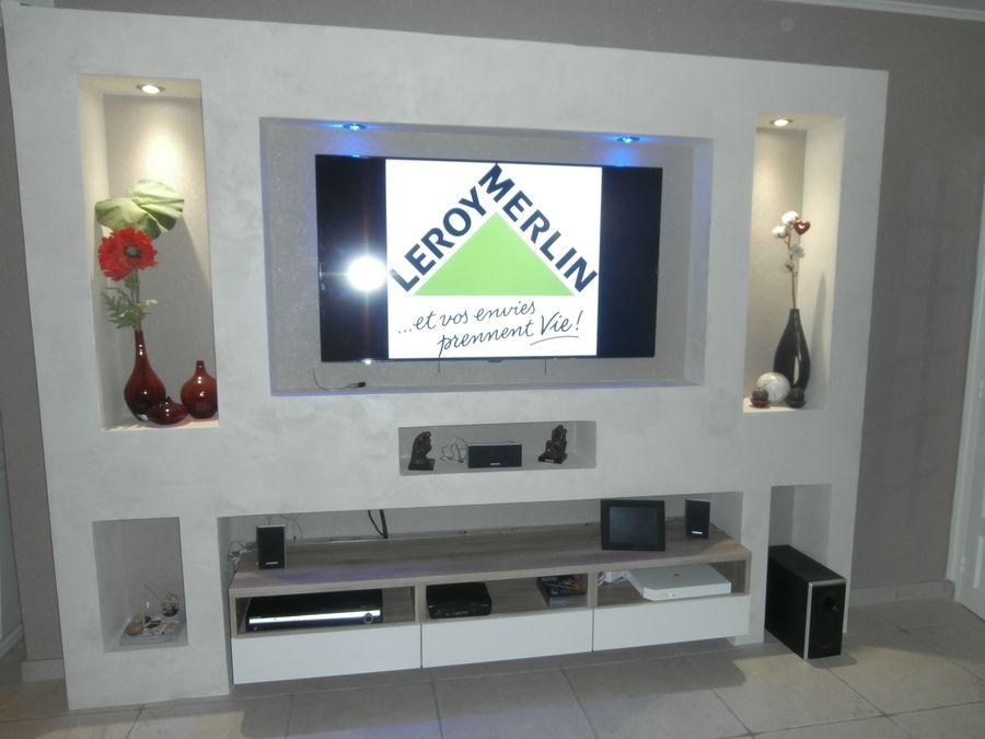 Meuble tv leroy merlin mobilier design d coration d for Meuble tv leroy merlin