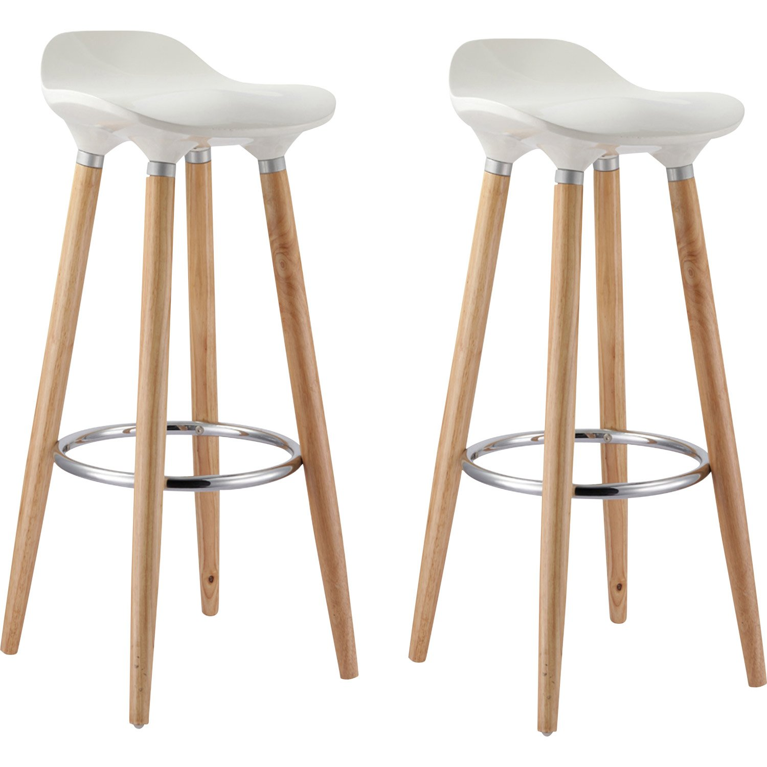 tabouret de bar oslo blanc mobilier design d coration d. Black Bedroom Furniture Sets. Home Design Ideas