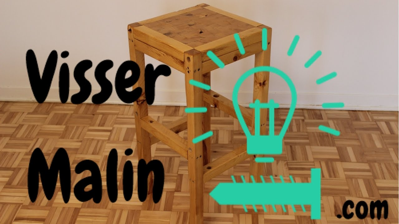 fabrication d 39 un tabouret de bar mobilier design. Black Bedroom Furniture Sets. Home Design Ideas