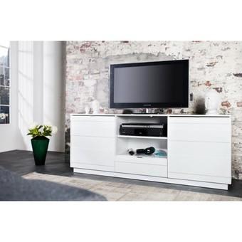 Meuble tv blanc laqu 100 cm mobilier design d coration d 39 int rieur - Meuble tv design 100 cm ...
