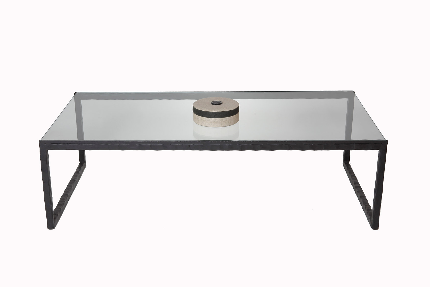 Table basse en verre et fer mobilier design d coration - Table basse de salon en verre et fer forge ...